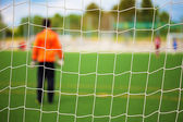 Goalkeeper with selective focus — Photo