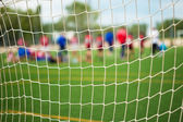 Soccer Net Selective Focus — Foto Stock