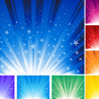 Star Burst Background - Stock Vector