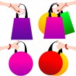 Hand with shopping bag — Stock Vector