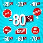 Sale Percents — Stock Vector
