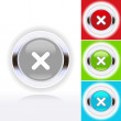Icon illustration of check mark over diverse buttons — Stock Vector #20387463