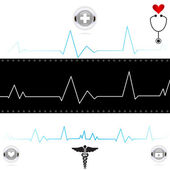 Electrocardiogram Graphic — Vetorial Stock