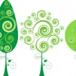 Royalty-Free Stock Imagen vectorial: Tree Set