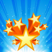 Abstract Star Burst Background — Stock vektor