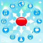 Social Media — Stock Vector #24085577
