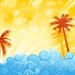 Summer Vector Background — Stock Vector #24087691
