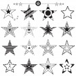 Star icons and logos collection — Stock Vector