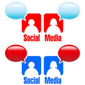Social Media — Wektor stockowy