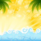 Summer Vector Background — Stock Vector