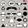 Blank Stamps templates - set for your design, vector elements separate - Stock Vector