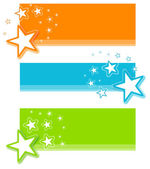 Star Banner Set — Stock Vector