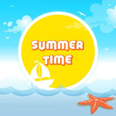 Summer Time — Vector de stock
