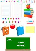 School Symbols — Stock Vector