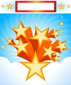 Star Burst Background — Stock Vector