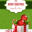 Christmas Background with Gift Box - Illustration  — 图库矢量图片