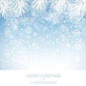 Blue Snowflake Background - Illustration — Stock Vector
