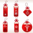 Christmas Labels - Illustration — Stock Vector #35532657