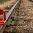 Stock Photo: Old Time lamp on Track