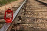 Old Time lamp on Track — Стоковое фото