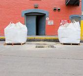 Bales of grain at a Grain Processing Center — Stock Photo