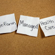 Reform and Manged Health Care — Foto Stock