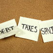 Debt and Taxes — 图库照片