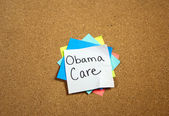 Obama Care Sticky — Stock Photo