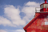 A big red lighthouse — Foto Stock