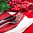 Christmas table layout — Stock Photo #13402240