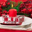 Christmas table layout — Stock Photo #13402365