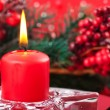 Christmas table layout — Stock Photo #13402443