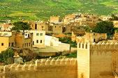 Morocco, a landscape of a city wall in the city of Fes — Stock Photo