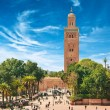 Main square of Marrakesh in old Medina. Morocco. — Stock Photo