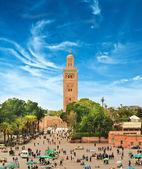 Main square of Marrakesh in old Medina. Morocco. — Stock Photo