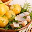 Herring with potato — Stock Photo