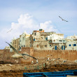 Stock Photo: Blue fishing boats in Morocco