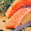 Trout and rosemary — Stock Photo