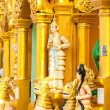 Statues of deities in the Buddhist temple. — Stock Photo