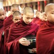 Monks live in the temple — Stock Photo