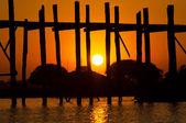Ponte u-bein ponte teca — Fotografia Stock