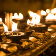 Ritual candles in Shwedagon Pagoda — Stock Photo #38207305