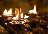 Ritual candles in Shwedagon Pagoda — Stock Photo