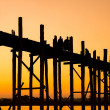 Stock Photo: Bridge U-Bein teak bridge