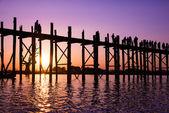 Bridge U-Bein teak bridge — Stock Photo