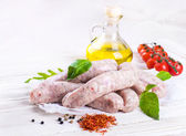 Munich sausages — Stockfoto