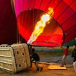 Stock Photo: Proper training to fly balloon