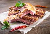 Lamb ribs with parsley — Stock Photo