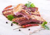 Smoked lamb ribs — Stock Photo