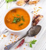 Soup of lentils — Stock Photo